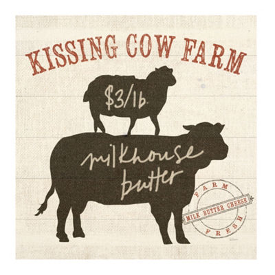 Farm Linen Cow Black