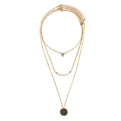 Arizona Womens 3-pc. Clear Necklace Set