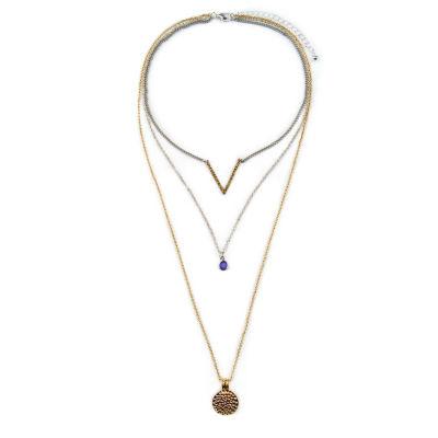 Arizona Womens 3-pc. Brown Necklace Set