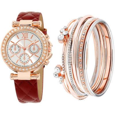 Womens Purple Bracelet Watch-St1506rg695-031