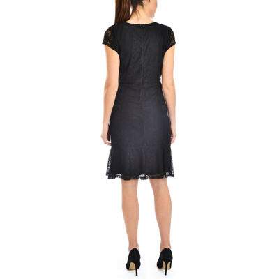 NY Collection Flounce Hem Lace Dress - Petities