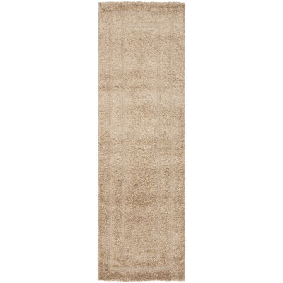 Safavieh Shag Collection Smith Solid Runner Rug