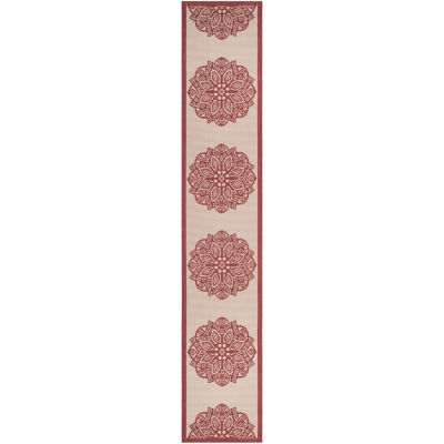 Safavieh Courtyard Collection Kimberly Oriental Indoor/Outdoor Runner Rug