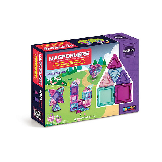 Magformers Solids Clear Inspire 40 PC. Set