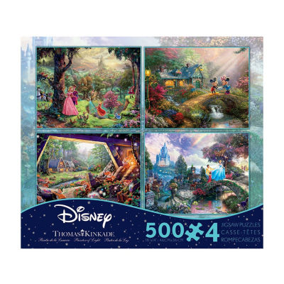 Ceaco Thomas Kinkade Disney Dreams - 4-in-1 JigsawPuzzle Multi-Pack Series 4: 4 x 500 Pcs