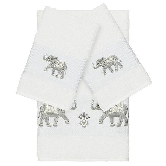 Linum Home Textiles 100% Turkish Cotton Quinn 3PC Embellished Towel Set