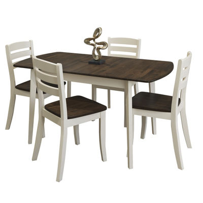 CorLiving Dillon 5pc Extendable Oblong Solid Wood Dining Set