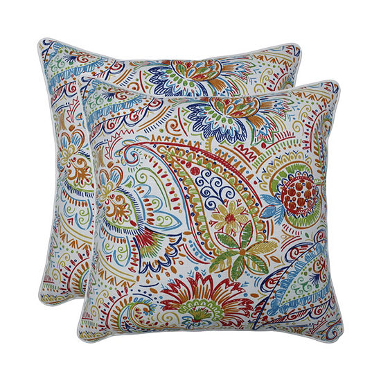 Pillow Perfect Gilford Festival Set of 2 18.5-Inch Outdoor Throw Pillows