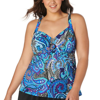 Trimshaper Tankini Swimsuit Top-Plus