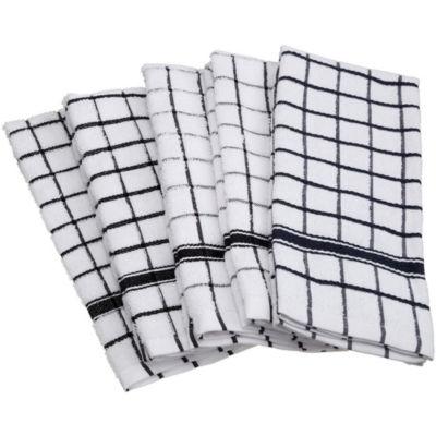 Windowpane Terry Dishtowel Set - Set of 4