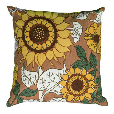 Rizzy Home James Transitional Floral Decorative Pillow