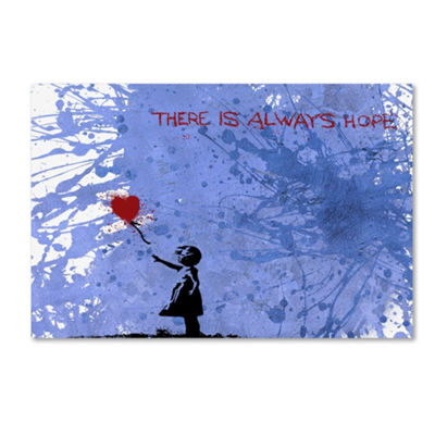 Trademark Fine Art Banksy There Is Always Hope Giclee Canvas Art