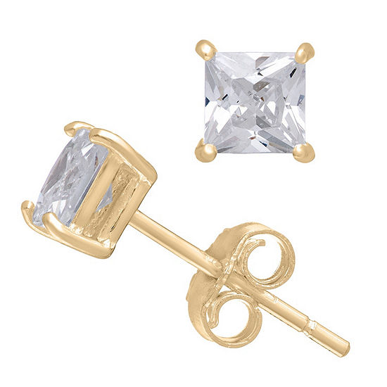 14K Gold Stud Earrings featuring 1/3 CT. T.W. Swarovski Zirconia