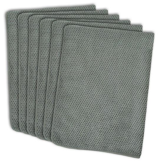 Design Imports Textured Microfiber Dishtowel - Set of 6