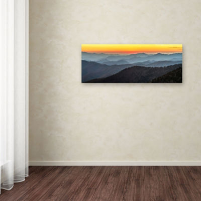 Trademark Fine Art Pierre Leclerc Great Smoky Sunset Giclee Canvas Art
