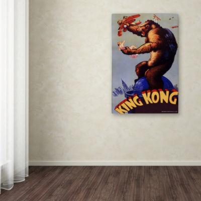Trademark Fine Art Lantern Press King Kong 1 Giclee Canvas Art