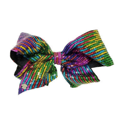 JoJo Siwa Signature Black Bow With Small Rainbow Sequins.