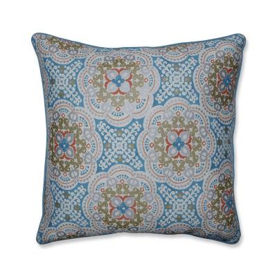 Pillow Perfect Astrid Aqua 25-Inch Outdoor Floor Pillow