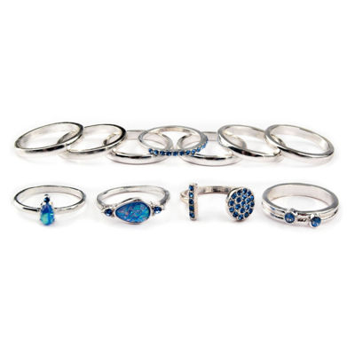 Arizona Womens Blue Stackable Rings