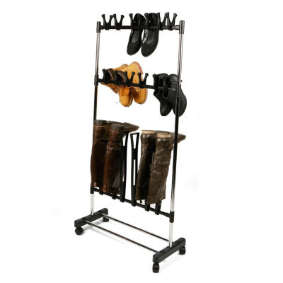 Mind Reader Rolling Footwear Holder And Organizer Stand, Black