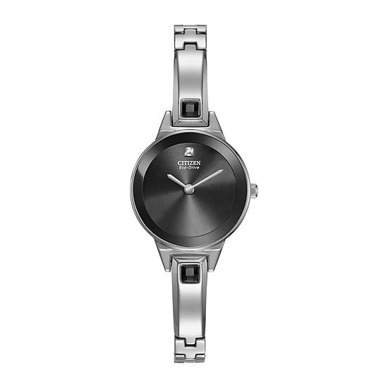 Citizen Axiom Womens Silver Tone Stainless Steel Bangle Watch-Ex1320-54e