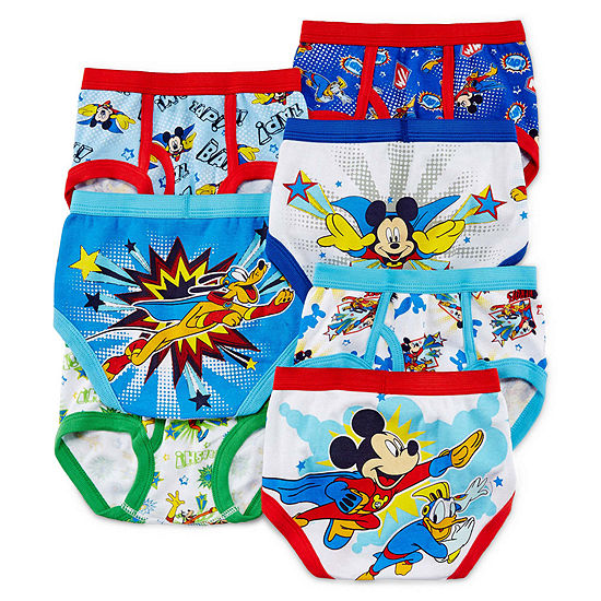Toddler Boys 5 Pair Mickey Mouse Briefs