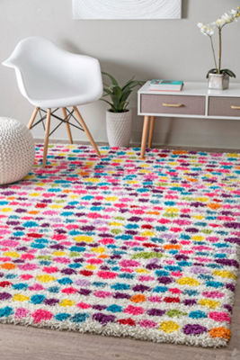 nuLoom Allard Striped Shag Rectangular Rug