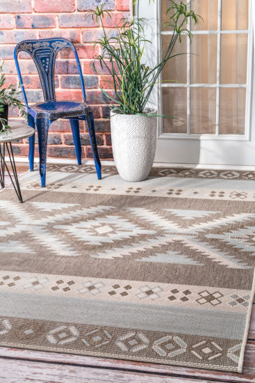 nuLoom Arianna Ikat Outdoor Rectangular Rug