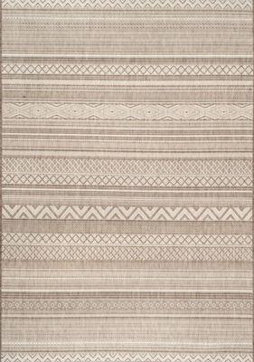 nuLoom Erlinda Tribal Outdoor Rectangular Rug