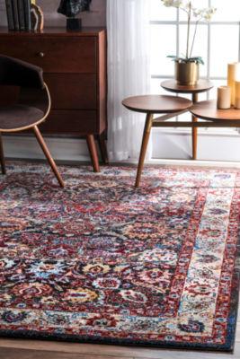 nuLoom Vintage Floral Messina Rectangular Rug