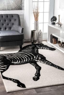 nuLoom Thomas Paul Power Loomed Zebra RectangularRug