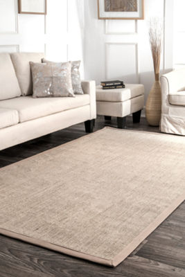 nuLoom Bordered Maryjo Sisal Rectangular Rug