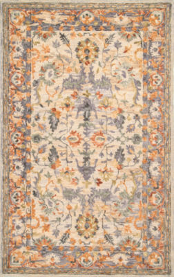 nuLoom Vintage Floral Mooney Rectangular Rug