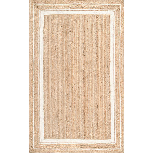 nuLoom Braided Rikki Border Jute Rug