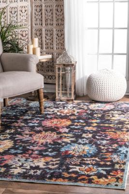 nuLoom Vintage Floral Shawnee Rectangular Rug
