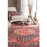 nuLoom Vintage Medallion Elvia Rectangular Rug