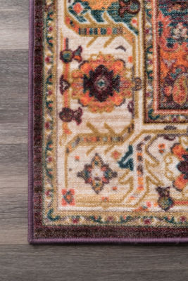 nuLoom Vintage Medallion Evalyn Area Rug