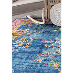 nuLoom Nia Floral Chinese Art Deco Rectangular Rug