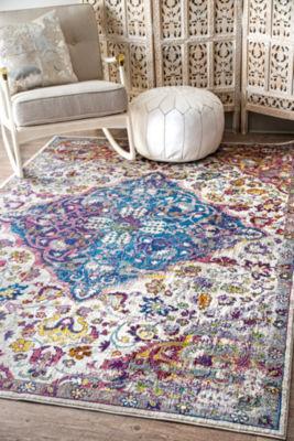 nuLoom Kena Persian Floral Rectangular Rug