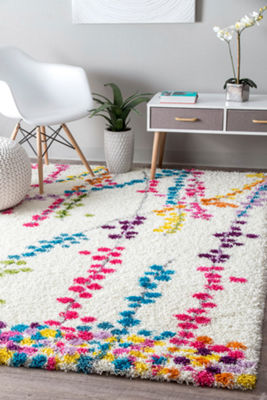 nuLoom Louvenia Abstract Shag Rectangular Rug