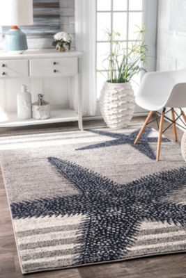nuLoom Thomas Paul Power Loomed Starfish Rectangular Rug