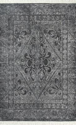 nuLoom Handmade Nidia Fleur-De-Lis Tassel Rectangular Rug
