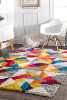 nuLoom Deedee Mosaic Shaggy Rectangular Rug
