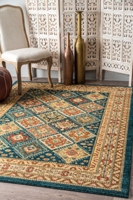 nuLoom Tribal Tiles Cyndi Rectangular Rug