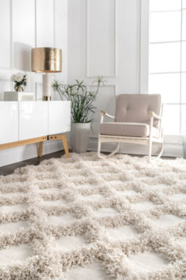 nuLoom Francene Diamond Trellis Shaggy RectangularRug