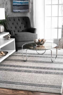 nuLoom Vintage Striped Makeda Rectangular Rug