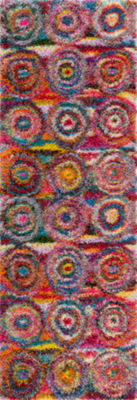 nuLoom Kindra Circles Shaggy Rectangular Rug