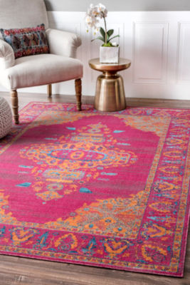 nuLoom Vintage Medallion Queenie Rectangular Rug