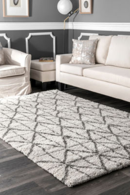 nuLoom Keely Tiles Shaggy Rectangular Rug