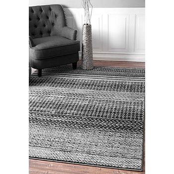 Nuloom Nova Stripes Rug Color Dark